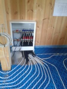 Podlahové topení rozdělovač