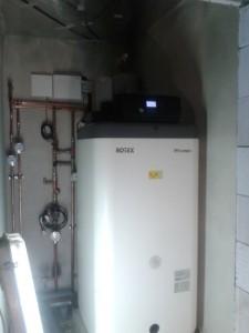 A opět spuštění vytápění pro vysoušení podlahovým vytápěním.