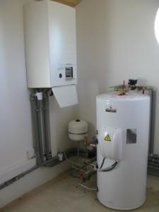 Technická místnost se zásobníkem vody